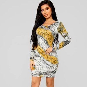 Natalee Snake Skin Mini Dress